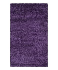 Look at this Purple Erica Shag Rug on #zulily today!
