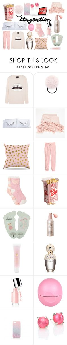 """""""never leaving my staycation"""" by procrastination-princess ❤ liked on Polyvore featuring Markus Lupfer, Forever 21, The Rise and Fall, Nika, H&M, Free Press, Etude House, Lancôme, Marc Jacobs and River Island"""