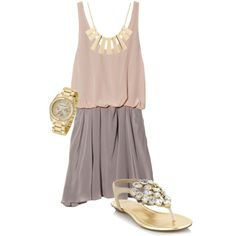 Pastels and Gold - Polyvore