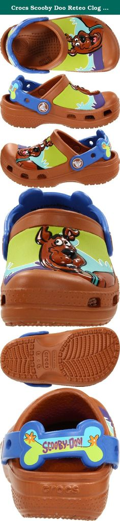 Crocs Scooby Doo Reteo Clog (Toddler/Little Kid),Brown/Espresso,4/5 M US Toddler. Crocs Infant Scooby Doo Retro Wave Clog Upper features 3D detailing of Scooby Doo™. Fully-molded croslite™ material construction for lightweight cushioning. Slip-on style with backstrap for added security. Non-marking treaded outsole provides traction. Measurements: Weight: 3 oz Product measurements were taken using size 8/9 Toddler. Please note that measurements may vary by size. .