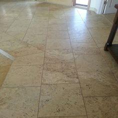 Travertine Floor Travertine Floors, Tile Installation, Carpet Tiles, Tile Floor, Hardwood, Flooring, Natural Wood, Carpet Squares, Tile Flooring