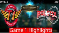 SKT vs KT Rolster Game 1 Highlights W6D3