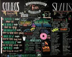 A Herbalife Menu wall done in chalk markers. Artwork by winternightowlart and S. Sport Nutrition, Nutrition Club, Nutrition Month, Nutrition Quotes, Nutrition Drinks, Holistic Nutrition, Nutrition Plans, Nutrition Education, Diet And Nutrition