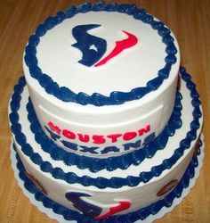 Mikeys Grooms Cake But With Only One Texans Logo And A Topper