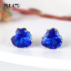 Chic Heart Shape Crystal Earrings