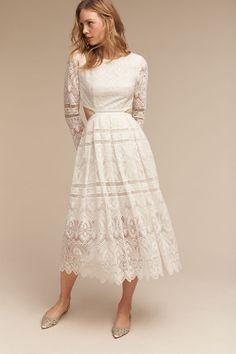 White Fallon Dress   BHLDN