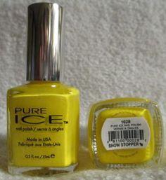 Pure Ice Nail Polish Show Stopper #1028 Bright Neon Yellow Lacquer Nail Art