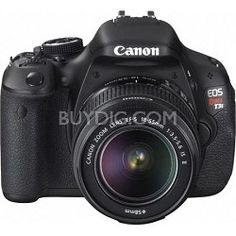 18.0 Megapixel CMOS (APS-C) sensor and DIGIC 4 Image Processor for high image quality and speed. The Canon EOS Rebel T3i has an 18.0 Megapixel