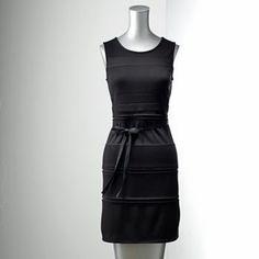Simply Vera Vera Wang Pieced Shift Dress - Petite