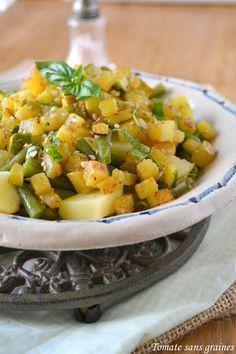 Tomate sans graines: Salade estivale {haricots verts-pommes de terre-courgettes}