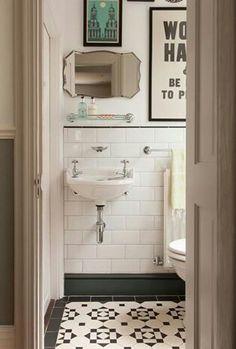 Small Bathroom Ideas: Once Again A Black And White Bathroom Wins. Never See  The Black And White Floor Tiles Like This!