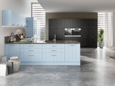 Visualization of kitchen in the interior