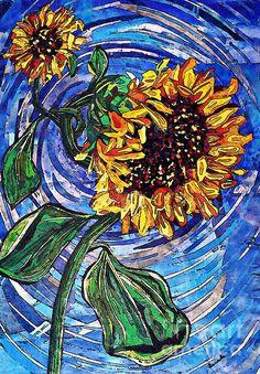Wild Sunflowers by Sarah Loft