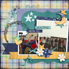Up all night        Kit: Wide Awake 6 Pack ~ Plus FWP by Fayette Desgns     Template: School Blues Templates by Connie Prince