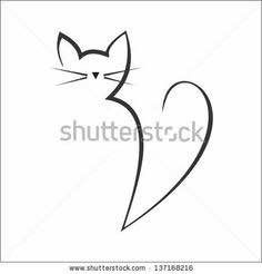 Find Calligraphy Cat stock images in HD and millions of other royalty-free stock photos, illustrations and vectors in the Shutterstock collection. Cat Drawing, Line Drawing, Cat Quilt, Cat Crafts, Cat Tattoo, Rock Art, Doodle Art, Cat Art, Easy Drawings