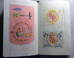 Estudio de estandarte y banderas de grandes marinos. Oquendo, BLAS de Lezo.