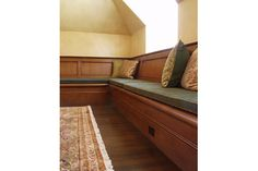 custom wood bench seating with storage, cabinetry, woodwork, millwork, Boston, MA, New England