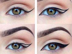Как правильно рисовать стрелки на глазах фото пошагово для начинающих