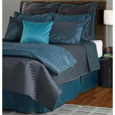 Dark teal, especially bed skirt (frame in my case)