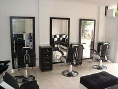 Looks like our salon, but the look is drab.  Need some life to it.