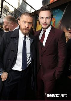 "Tom Hardy and Nicholas Hoult seen at the Warner Bros. premiere of ""Mad Max: Fury Road"" on Thursday, May 7, 2015, in Los Angeles. (Photo by Eric Charbonneau/Invision for Warner Bros./AP Images)"