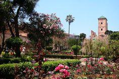 jardin andalou des oudayas, rénové en. rabat. Maroc