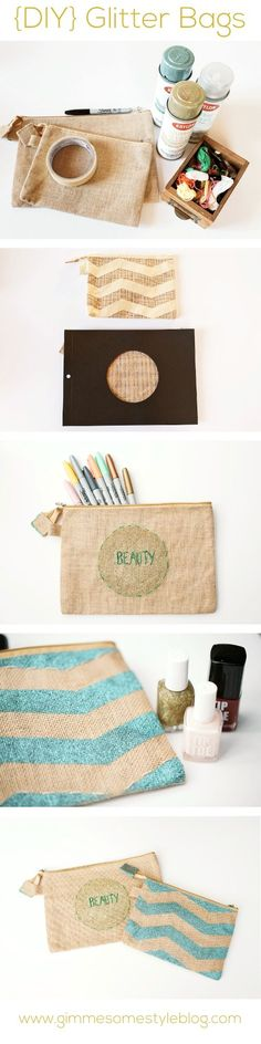 {DIY} Glitter Spray Paint Bag | www.gimmesomestyleblog.com