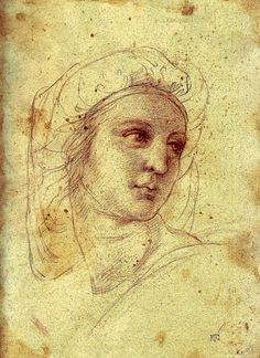 "Raphael | Study Raphael ""Head of a Muse"" by ~mnsrc on deviantART"