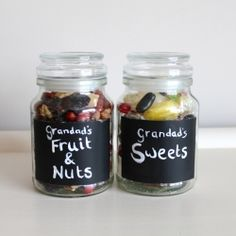 An easy personalized Christmas gift DIY. A jar of treats! I love it but I would change it to say Papa's Nuts and Mamaw's sweet...ha ha