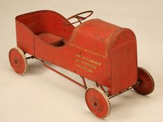 vintage toy pedal car by antiquesonoldplank on etsy 67500