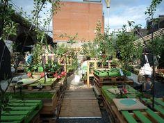 Union Street Urban Park Garden with pallets!