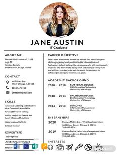 FREE Resume for Software Engineer Fresher Template - Word (DOC) | PSD | InDesign | Apple (MAC) Apple (MAC) Pages | Publisher | Illustrator | Template.net Best Resume Template, Resume Design Template, Creative Resume Templates, Creative Resume Design, Design Resume, Invoice Template, Ui Design, Word Doc, Illustrator Resume