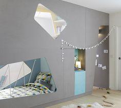 All the equipment for a cozy room! Dream Bedroom, Kids Bedroom, Loft Bed Plans, Minimalist Kids, Modern Home Interior Design, Cozy Room, Kids Room Design, Creative Decor, Kid Beds