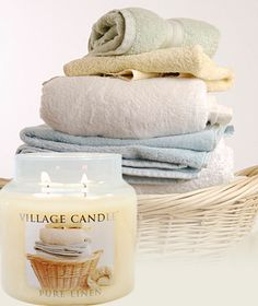 Pure Linen-Premium Round Scented Candles | Village Candle