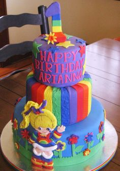 Rainbow Brite Revisited! - Rainbow Bride done in a gumpaste base and covered with fondant