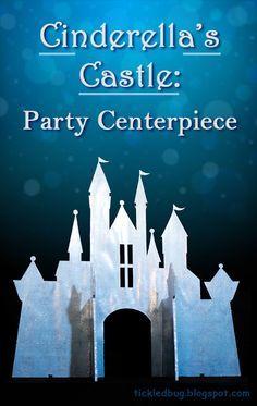 Tickled by the Creative Bug - Cinderella's Castle: Princess Party Table Centerpiece DIY Cinderella Birthday, Cinderella Castle, Princess Castle, Princess Birthday, Cinderella Wedding, Birthday Party Centerpieces, Birthday Party Tables, Birthday Crowns, Wedding Centerpieces