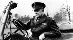 Dwight Eisenhower allegedly had an affair with his female driver while he was the supreme Allied commander during World War II. He's shown here at the wheel of his jeep in France