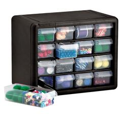 Check out this item in my Etsy shop https://www.etsy.com/listing/236224150/craft-storage-cabinet-drawer-plastic