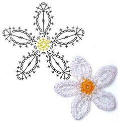 No.50 Orange Blossom Crochet Flower Motifs / 오렌지 꽃 코바늘 플라워 모티브도안