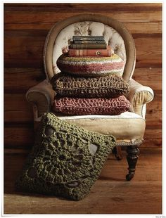 Knitted and crochet home decor -