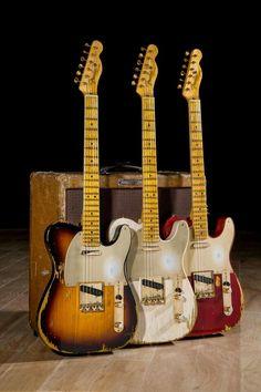 Heavy Relic Fender Telecasters