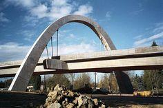 MAX Main Street Bridge, Hillsboro, Oregon, US Hillsboro Oregon, State Of Oregon, Light Rail, Reinforced Concrete, Portland Oregon, Main Street, Bridges, Places Ive Been, Maine