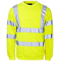 Shop for New Hi High Viz Crew Neck Sweatshirt Top Jumper Warm Work Reflective Tape Safety Suitable For Work Leisure Workwear Walking Comfortable Casual Warm Yellow M. Starting from Compare live & historic outerwear prices. Hi Vis Workwear, Mens Jumpers, Camisa Polo, Bomber Jacket Men, Fashion Deals, Blazers For Men, Mens Clothing Styles, Work Wear, Crew Neck Sweatshirt