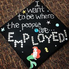 Little Mermaid #Inspired Graduation Cap