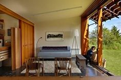 An open backyard studio/guesthouse provides flexibility and can adapt as needed