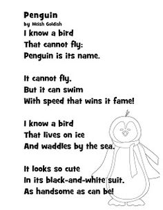 Just 4 Teachers: Sharing Across Borders: NEW! For the Week of 1/24 Penguin Poem and Craft