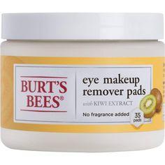 Burt's Bees Eye Makeup Remover Pads, 35 Count, Pack of 3 Burts Bees Makeup Remover, Natural Makeup Remover, Makeup Remover Wipes, Natural Eye Makeup, Natural Skin, Eye Make-up Remover, Make Up Remover, Bee Makeup, Makeup Lips
