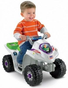 Disney Pixar Toy Story 3 Lil' Quad Power Wheels from Fisher- Price - Power Wheels (Fisher-Price) 1011462 - 2 Years - FAO Schwarz® Top Christmas Toys, Christmas Baby, Christmas Gifts, Christmas 2014, Toys R Us, Kids Toys, Kids Indoor Playhouse, Hobby Toys, Cool Gifts For Kids