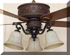Cc kvshr brz ru lk420 roundup western ceiling fan with light kit western ceiling fan with lights aloadofball Gallery