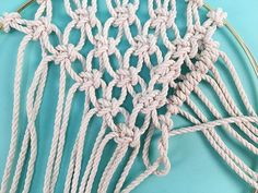 Learn how to make a DIY macrame wall hanging in a brass ring, in this free macrame tutorial pattern from Brooklyn Craft Company. Macrame Supplies, Macrame Projects, Dream Catcher Tutorial, Half Hitch Knot, Macrame Wall Hanging Diy, Creative Arts And Crafts, Granny Square Crochet Pattern, Macrame Tutorial, Macrame Patterns